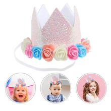 Party-Hat Decoration Birthday-Cap Creative for Wearing Felt-Cloth Shining Delicate 1PC