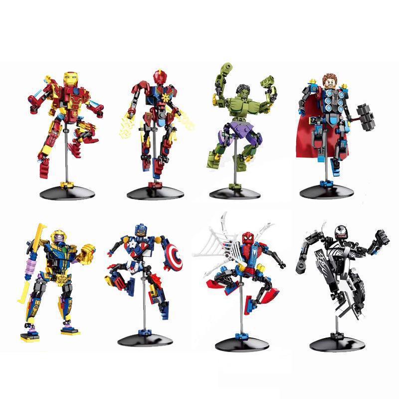 Marvel Avengers Superhero Venom Gauntlet Mini Figures Building Blocks Toys Gifts