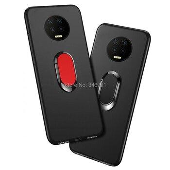 Перейти на Алиэкспресс и купить Чехол Infinix Note 7 6 ГБ 128 Гб роскошный мягкий черный силиконовый чехол 6,95 дюйма для телефона Infinix Note 7