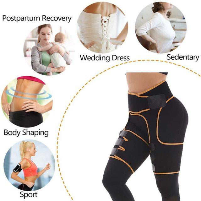 Women Neoprene Sweat Waist Tranier Body Shaper Butt Lifter Thigh Trimmer Sauna Shaperwear Tummy Control Belt Workout Fitness 4