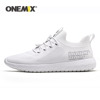 ONEMIX 2020 Adult Women Tennis Shoes Ultralight Breathable Sneakers Elastic Band Outdoor Walking Trainers Ladies Flats Big Size
