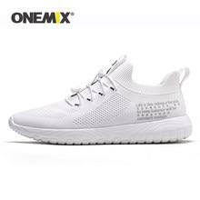 ONEMIX-zapatos de tenis para mujer, zapatillas de deporte transpirables de tejido volador para exteriores, con tiras cruzadas redondas ligeras, zapatos planos sin cordones