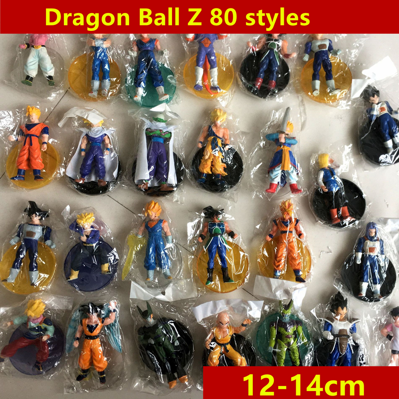 80styles 14cm Dragon Ball Z gkresin Super Saiyan Goku Son Broli vegeta Trunks freezer  Action Figure Model Collection Toy Gift (15)