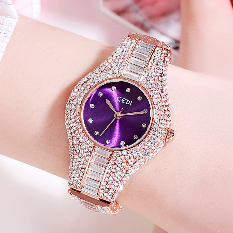 Women Watches 2020 New Diamond Stainless Steel Quartz Wristwatch High-End Fashion Waterproof Simple Watch Women Luxury Reloj