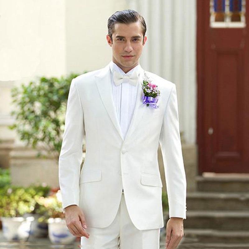 Hot Selling Mens Suits 2 Pieces (Jacket+Pants) Wedding Tuxedos Groomsmen Best Man Formal Suit For Men