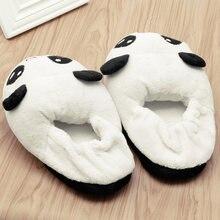 Mignon Yeux Panda Femmes Pantoufles Belle bande dessinée Accueil intérieur chaussures souples