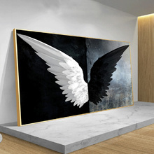 Black And White Angle Wing Large Size Canvas Wall Painting On Wall Art Poster And Prints Picture For Living Room Decoration