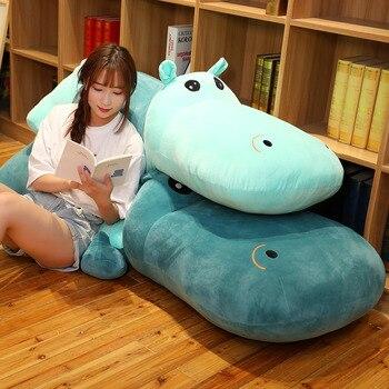 цена на 60CM New Arrival Cute Hippo Big Pillow Accompany Sleeping Doll Birthday Gift Plush Toy