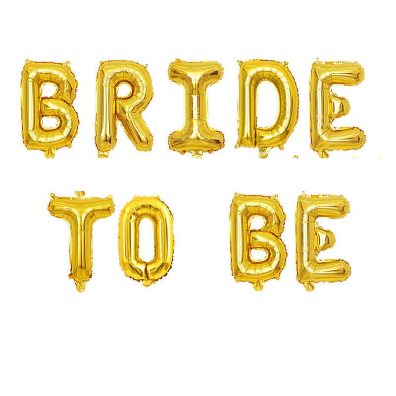 16 дюймов розовое золото баллон невесты быть шары из фольги в виде букв Свадебные украшения Декор для девичника аксессуары