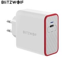 BlitzWolf 45 واط USB PD تهمة سريعة نوع C الهاتف شحن سريع الجدار شاحن الاتحاد الأوروبي التوصيل آيفون 12 Mini برو ماكس 11 برو ماكس/باد برو
