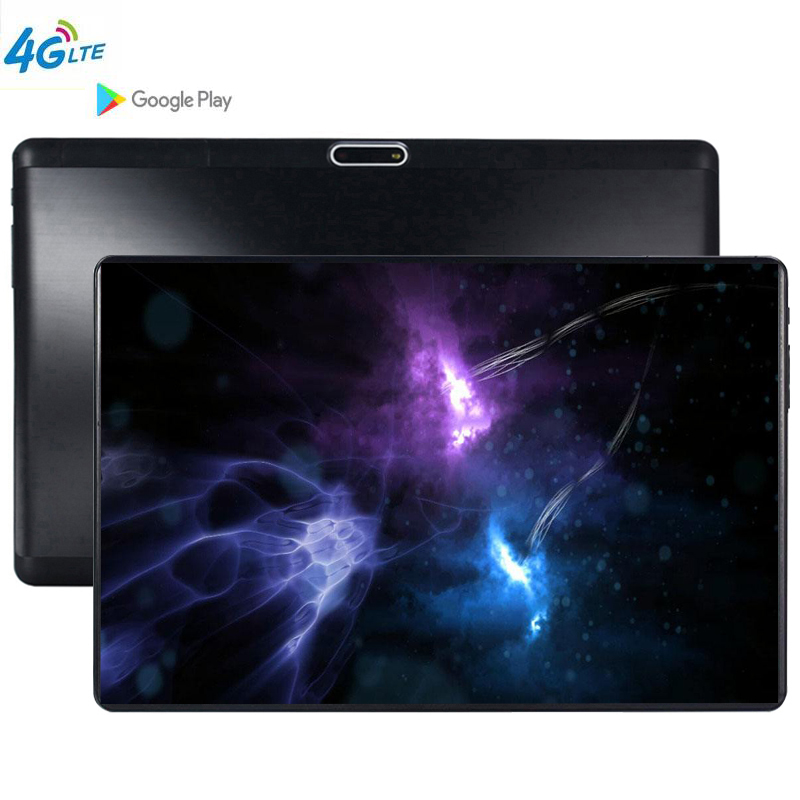 4G LTE 2.5D Glass Tablets Android 9.0 MT6753 Octa Core Ram 6GB ROM 64GB  5MP 3G 4G LTE SIM Tablet PC Wifi GPS Bluetooth Phone