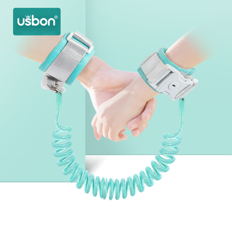 Usbon 2-2.5M Kids Safety Harness Adjustable Children Leash Anti-lost Wrist Link Traction Rope Baby Walker Wristband