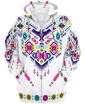 Tessffel Indian Native culture Harajuku Casual Colorful Tracksuit New Fashion 3DPrint Unisex Hoodie/Hoodies/Zipper Men Women s-1 1