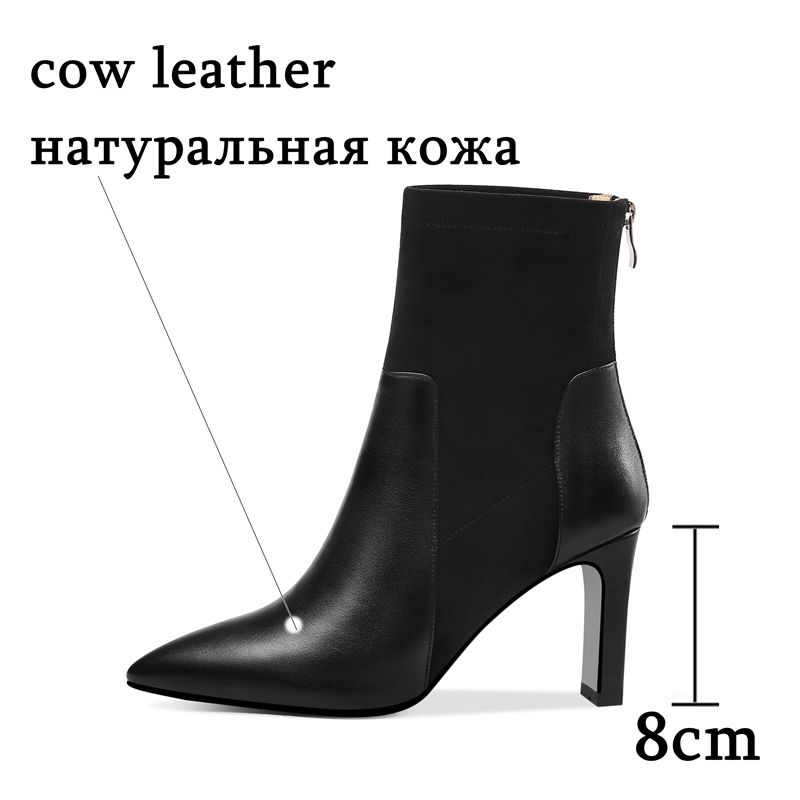 Image 3 - ALLBITEFO High quality genuine leather women boots comfortable 