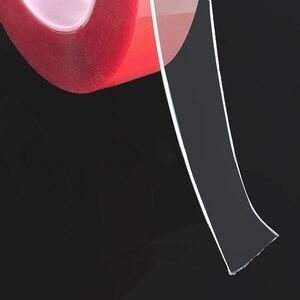 Image 3 - Adesivi per auto Rosso Trasparente In Silicone A Doppia Faccia Nastro Adesivo per Auto Ad Alta Resistenza Nessuna Traccia Adesivo Autoadesivo della parete del Salone Merci
