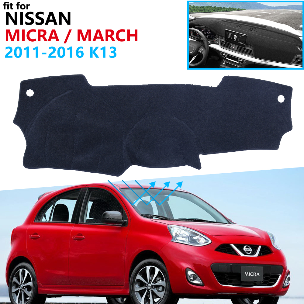 Dashboard Cover Protective Pad For Nissan Micra March K13 2011 2012 2013 2014 2015 2016 Accessories Dash Board Sunshade Carpet