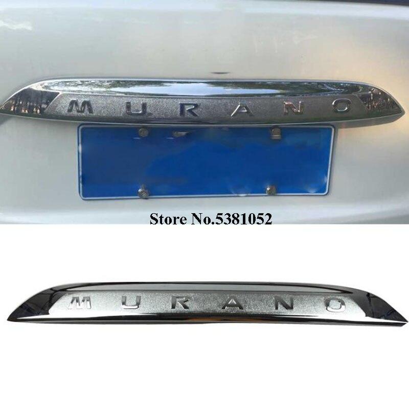 Pour Nissan Murano Z52 2015-2018 ABS Chrome couvercle de coffre arrière garniture hayon coffre protecteur voiture accessoires extérieurs