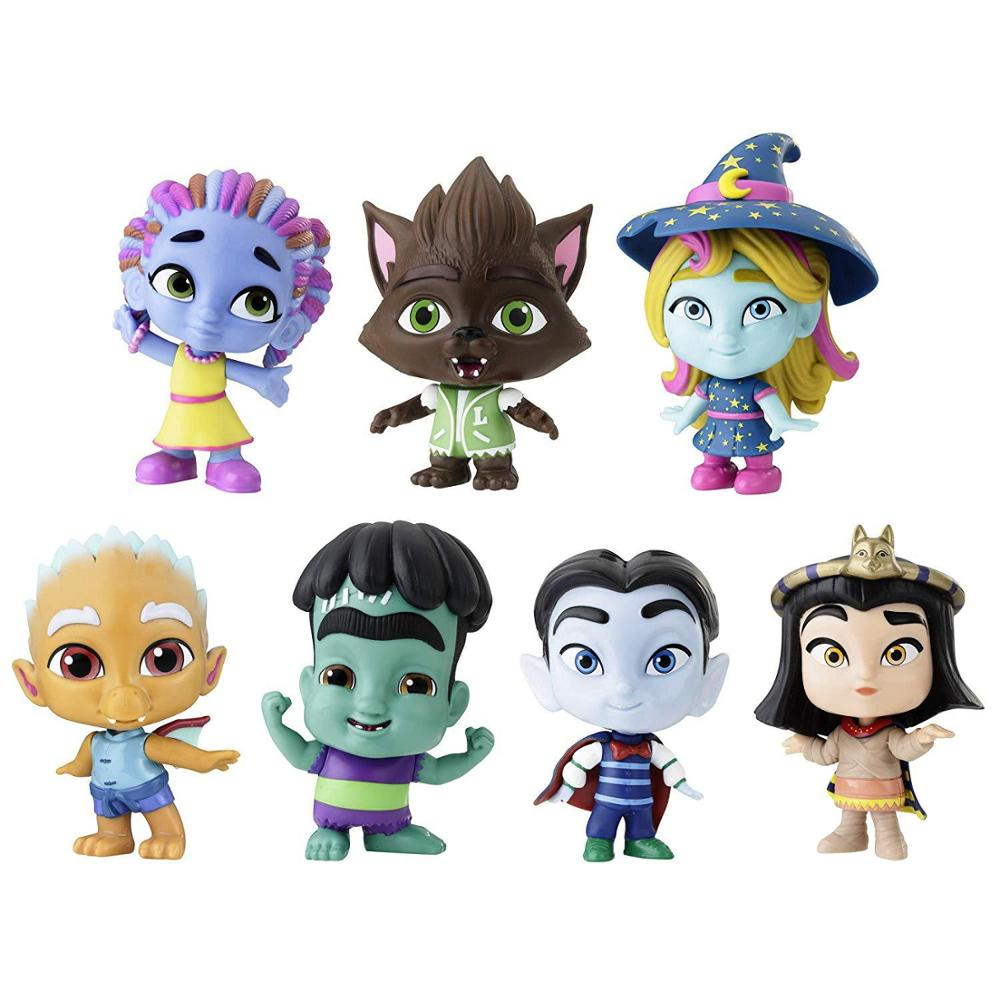 7pcs 4.5inch 15cm no box hard PVC super monsters action figure doll kids collection model toy d10
