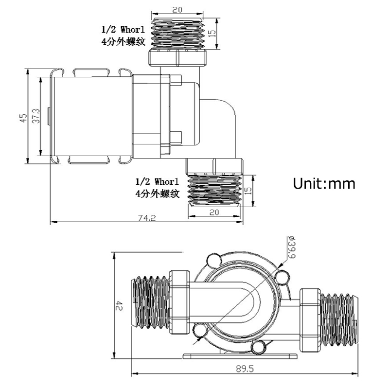 Black Water Pump 800l//H 12v//24v Brushlessmotor Verkehr Teich Aquarium Heiß