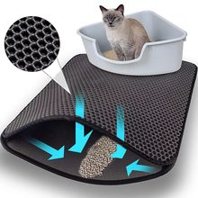 Pet Cat Litter Mat Double Layer Waterproof Litter Cat Pads For Cats House Clean Super Light Easy To Carry Smooth Surface