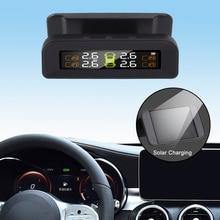 LEEPEE אוטומטי אבטחת צמיג לחץ טמפרטורת אזהרת רכב צמיג לחץ מעורר צג מערכת שמש כוח TPMS