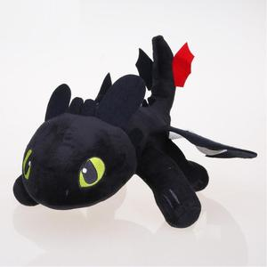Image 2 - 25cm Nacht Fury Plüsch Spielzeug Wie Trainieren sie Ihre Dragon Zahnlos Füllte Spielzeug Weiche Baumwolle Tier Plüsch Puppen für kinder Kinder Geschenke
