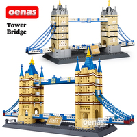 Compatible Legoing Architecture Landmark Tower Bridge of London Assembled Model Building Block Construction Bricks kids Toy Gift