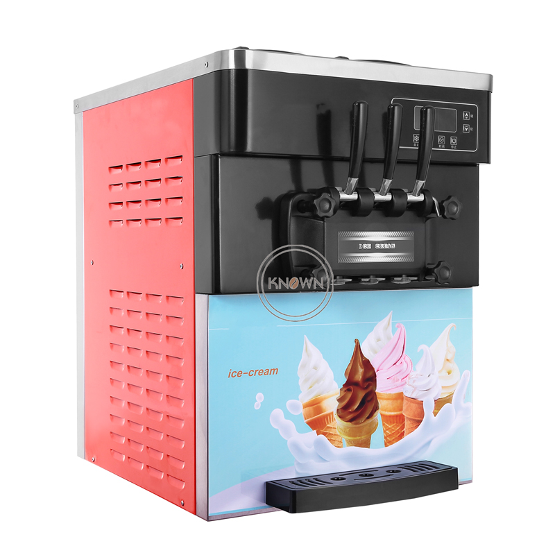 Commercial 28L/h Table Top Mini Soft Ice Cream Machine For Softy Ice Cream