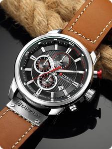 CURREN Watches Men High-Quality Quartz Masculino Luxury Brand New Chronograph Strap Relogio