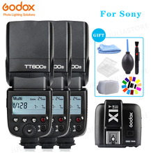 Godox Speedlite Flash Da Câmera 2.4G Sem Fio Escravo Mestre X1T S TT600s HSS TTL para Sony a6000 a7 II III a58 a6300 a6500 a37