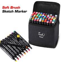 24/48/60/80/168 Color Art Marker Set Dual Headed Artist Sket