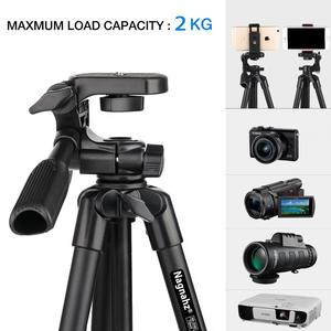 Image 2 - Cell Phone Tripod 55inch Selfie Stick Tripode with Bluetooth Remote Panorama Pan Head Travel Portable Tripod Stand for Mobile