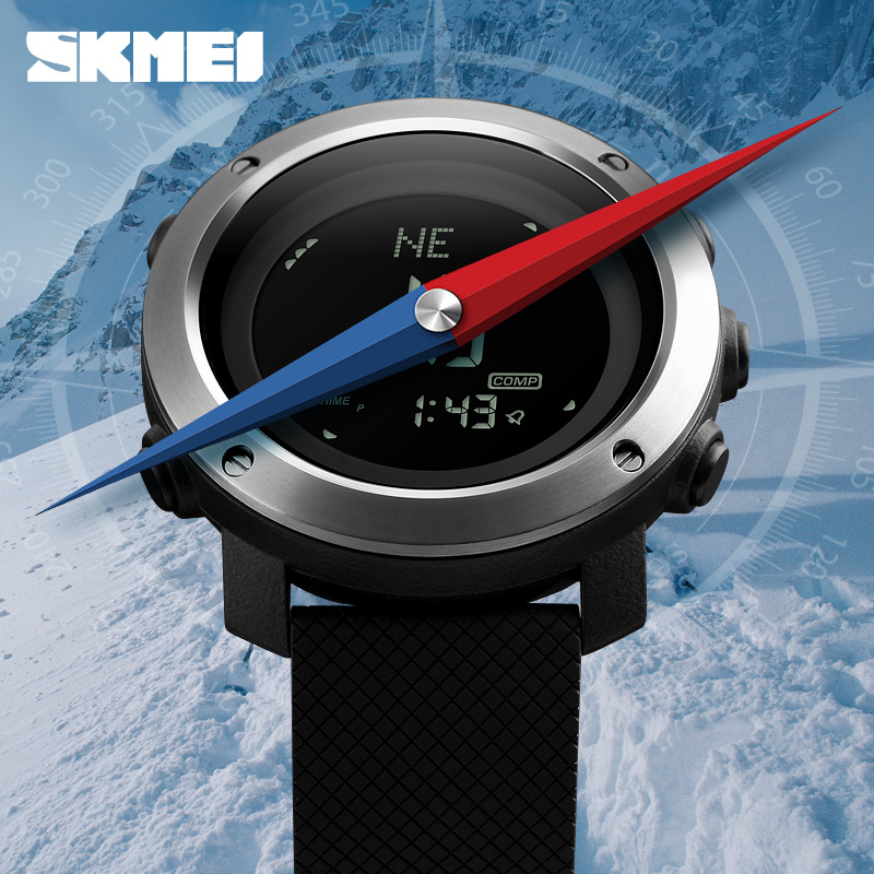 New Fashion Men's Digital Watch Top Brand SKMEI Men Wrist watch Luxury Compass Weather Forecast Electronic Bracelet Clock Male