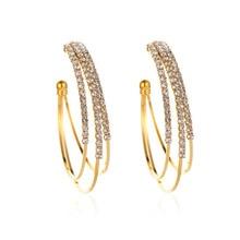 Yobest de oro colorido aretes de aro simples ronda moda hueca personalizado oreja joyería de regalo para regalo de fiesta de boda