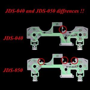 Image 4 - IVYUEEN ل بلاي ستيشن 4 PS4 برو سليم تحكم غشاء موصل لوحة المفاتيح الكابلات المرنة ل Dualshock 4 الشريط لوحة دوائر كهربائية JDS 050