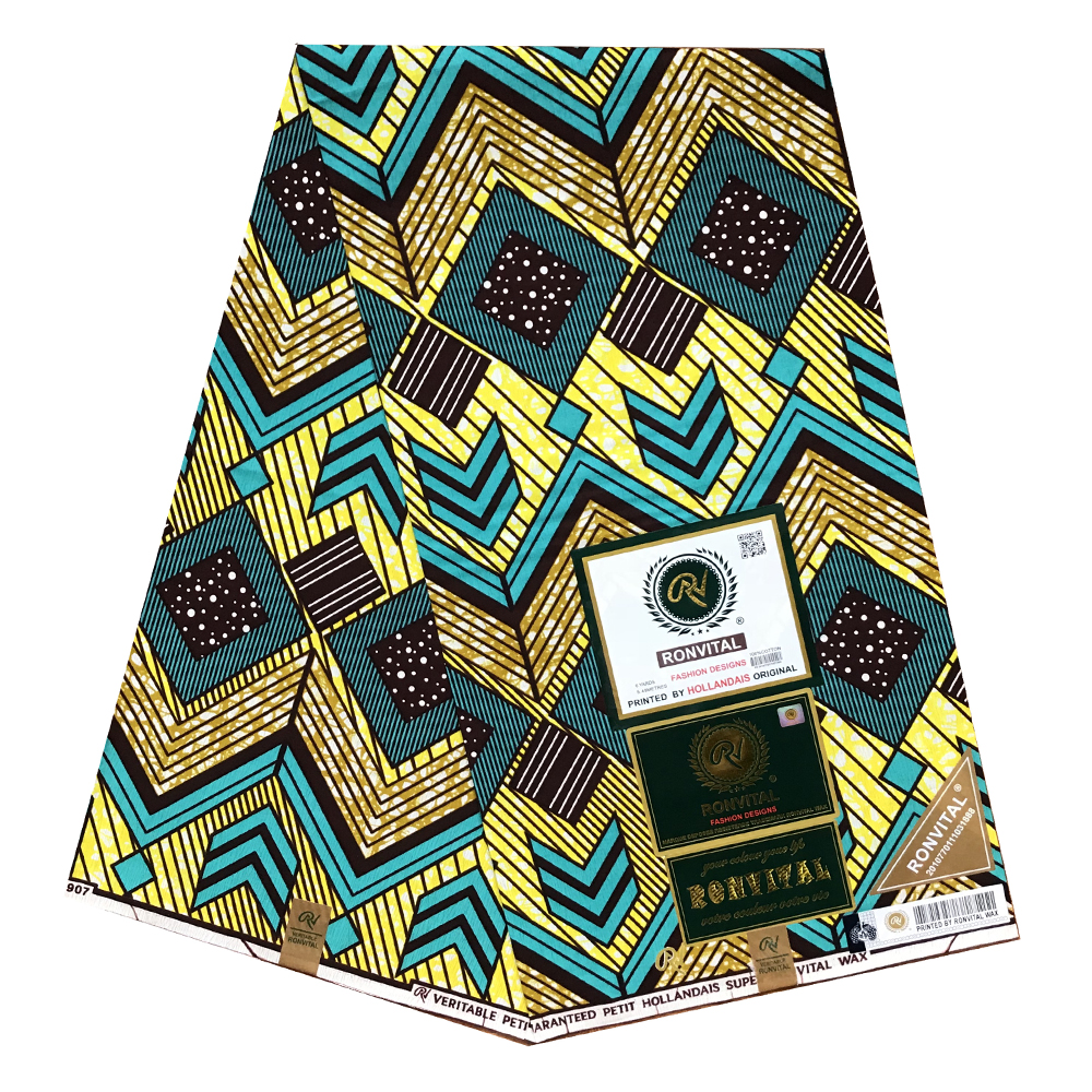 African wax fabric Nigerian Real Wax Fabric for Women Ankara 100% Cotton Prints Super title=