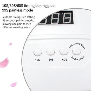 120W Nail Lamp LED Nail Dryer For Manicure 36 Pcs Light Bead UV Lamp LCD Display Drying All Gels Nail Polish Nail Art Tools 4
