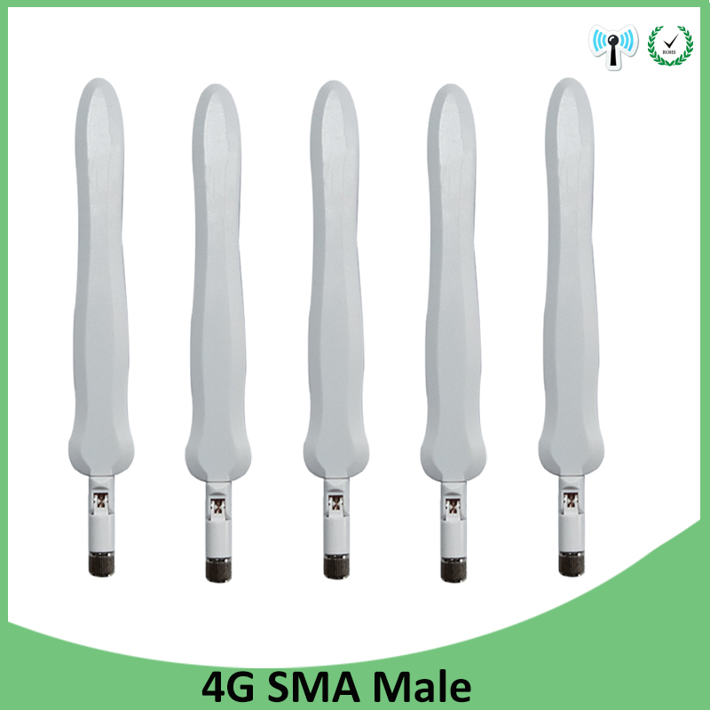 5pcs 4G LTE Antenna SMA Male Connector 10DBI 3G 4G Antena External Directional Waterproof Antenne For Wireless Modem Router