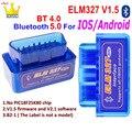 Bluetooth Мини ELM 327 V1.5 OBD сканер для ios Android OBD2 ELM327 Мини ELM327 Bluetooth OBD2 сканер ELM327 OBD2 считыватель кодов