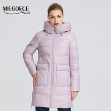 MIEGOFCE 2019 Women's Winter Jacket Windproof Jacket Coat With a Stand-up Collar Winter Parka With Zipper and Patch Pockets(China)