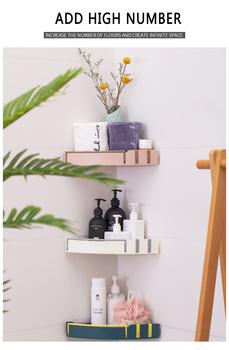 Półka narożna półka łazienkowa półka ścienna uchwyt kuchenny do przechowywania organizator uchwyt ścienny łazienka narożna półka po prysznic Hot tanie i dobre opinie Liplasting Pojedyncze Typ ścienny Bathroom Shelf Storage Rack 3 Color