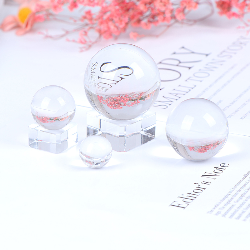 2/3/4/5CM Photography Crystal Round Seed Beads Feng Shui Clear Color Magic Natural Glass Balls For Home Wedding Decoration