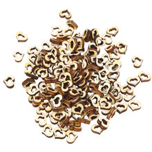 100Pcs 20mm DIY Handmade Accessories Wedding Wooden Hollow Love Heart Crafts Creative Buttons for DIY Embellishments Wedding(China)