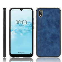 For Huawei Y5 2019 Case Suture Calfskin Soft Edge PU Leather Hard Phone Cover For Huawei Y5 2019 AMN-LX1 AMN-LX2 LX3 LX9 Case(China)