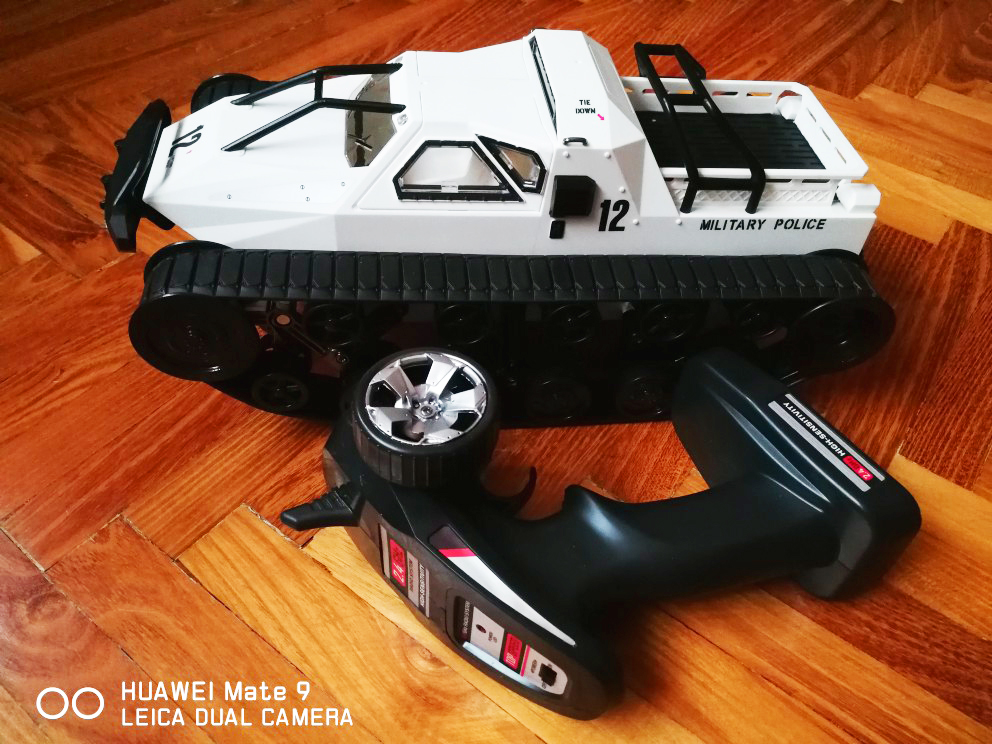 2.4G RC réservoir quatre roues grand camion militaire 1:12 grande taille Simulation réservoir entraînement haute vitesse dérive réservoir tout-terrain véhicule RC voiture - 2