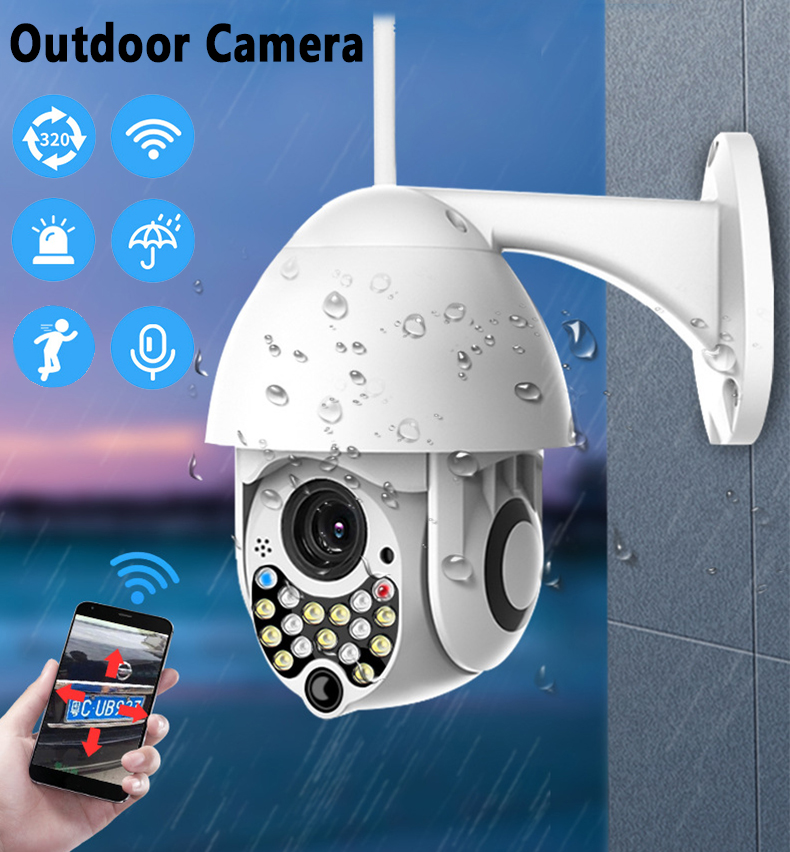 Wireless Wifi IP Camera 1080P Outdoor Camera Outdoor High-speed CCTV IR Camera With Sound And Light Alarm Function Security
