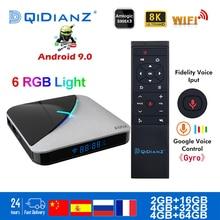 Smart TV BOX A95XF3 AIR Android 9.0 Amlogic S905X3 8k Netfli