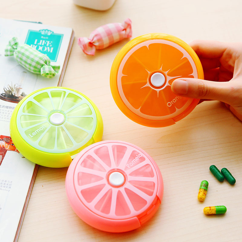 Portable Round Shape Small Medicine Pill Box Portable 7 Days Weekly Travel Medicine Holder Tablet Storage Case Container Hot