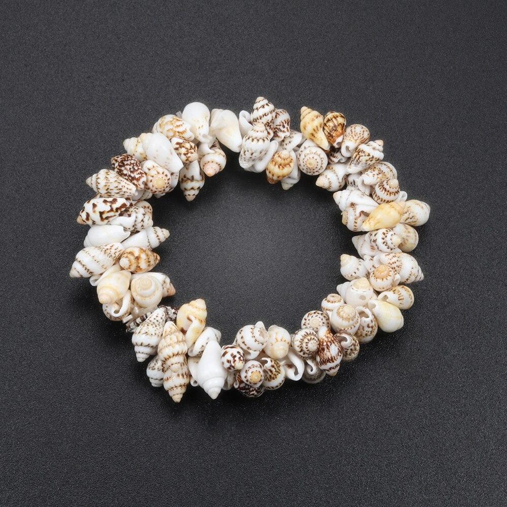 Hot Conch Shell Elastic Bracelet For Women Sea Style Beach Bracelets Bangles Summer Holiday Gift Femme Fine Bracelet Jewelry