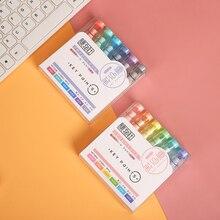 Highlighter-Pen Journal Pens Morandi Fluorescent-Pen School-Supplies Eye-Protection JIANWU